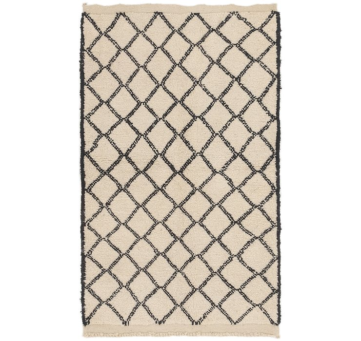 HandKnotted 3' 9 x 6' 2 Moroccan Rug