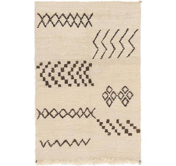 3' 2 x 4' 8 Moroccan Rug