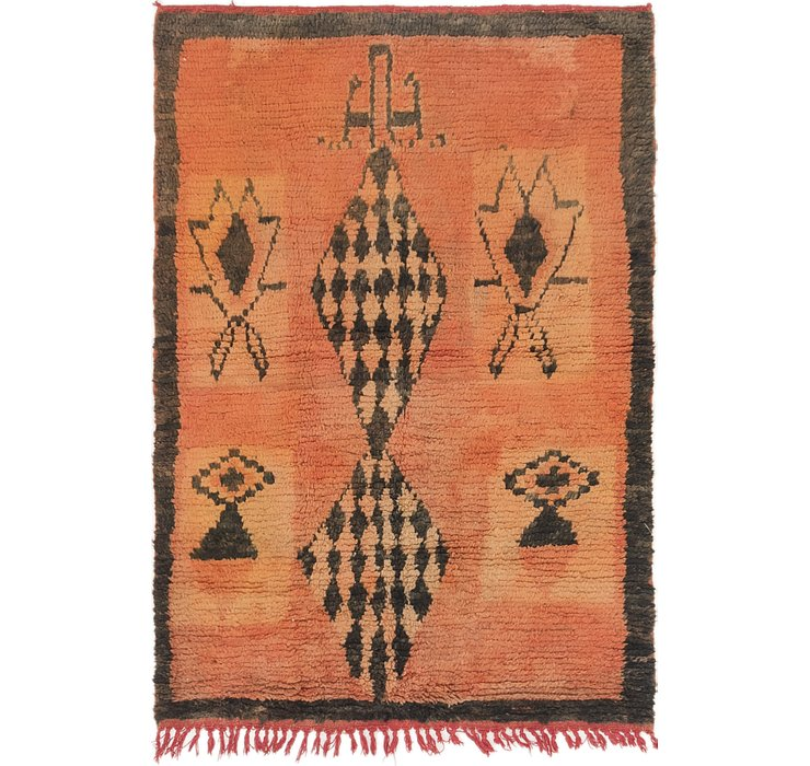 HandKnotted 3' 8 x 5' 2 Moroccan Rug