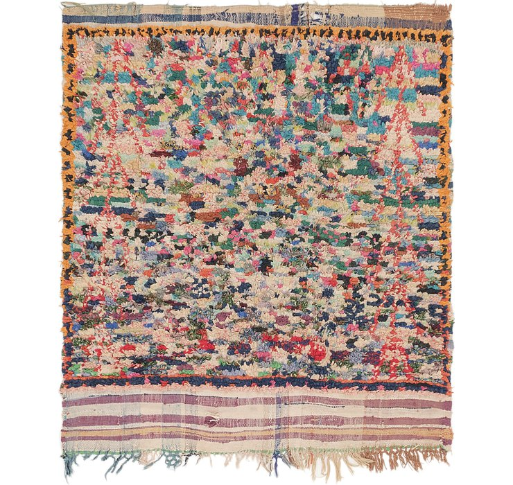 HandKnotted 5' 2 x 5' 8 Moroccan Square Rug