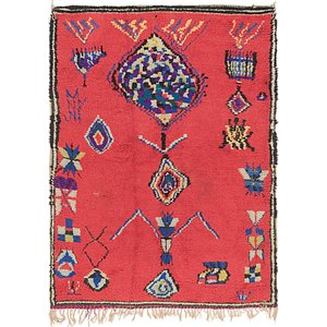 4' 7 x 6' 2 Moroccan Rug