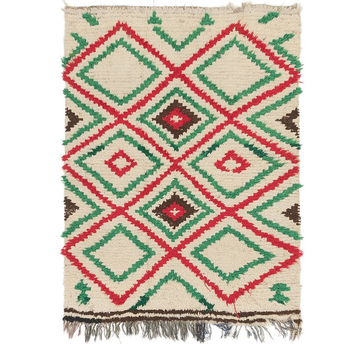 4' 4 x 5' 9 Moroccan Rug
