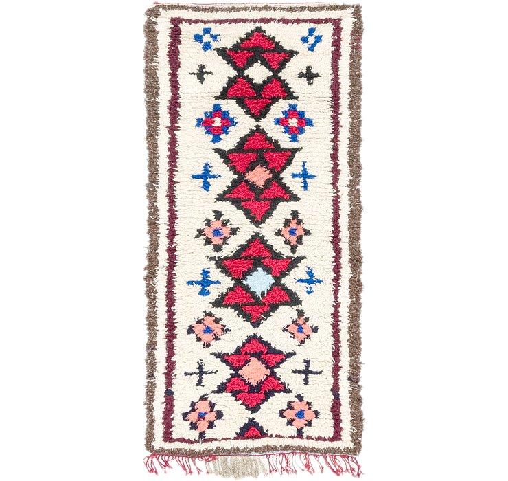 3' x 6' 6 Moroccan Runner Rug