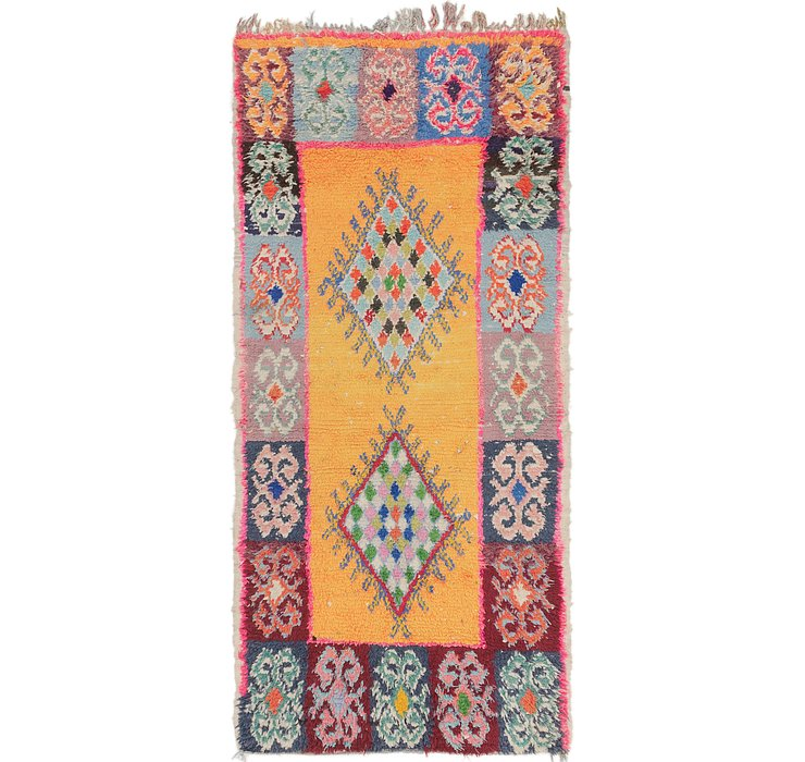 HandKnotted 3' 4 x 7' 2 Moroccan Runner Rug