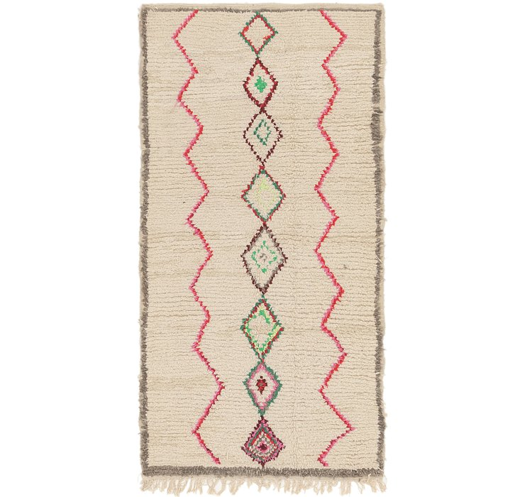 HandKnotted 4' x 8' Moroccan Runner Rug