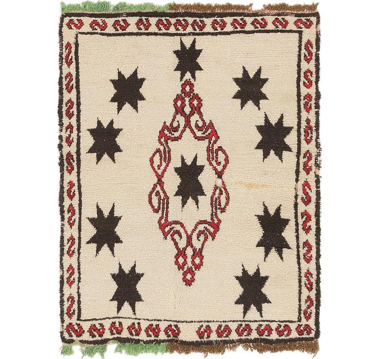 4' 5 x 5' 9 Moroccan Rug
