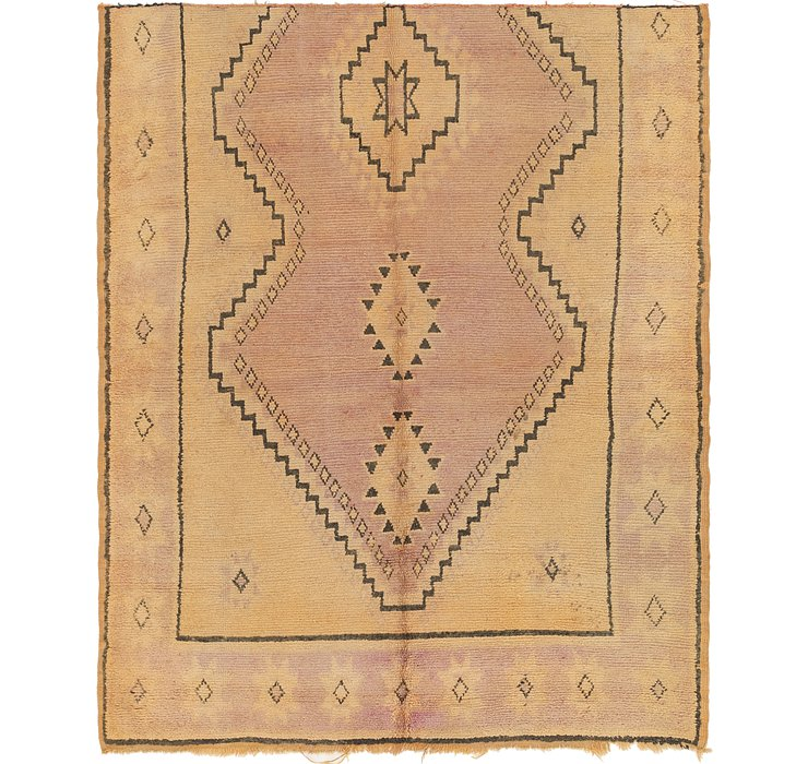 HandKnotted 6' x 7' 3 Moroccan Square Rug