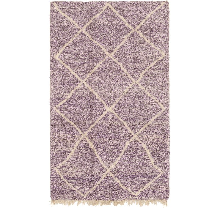 HandKnotted 4' 10 x 8' 4 Moroccan Rug