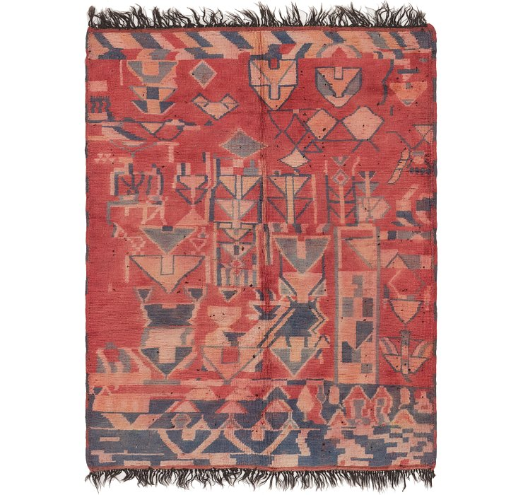 HandKnotted 5' 7 x 7' 3 Moroccan Rug