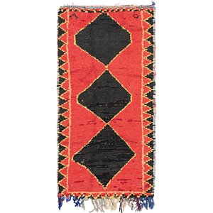 HandKnotted 3' 6 x 6' 8 Moroccan Rug