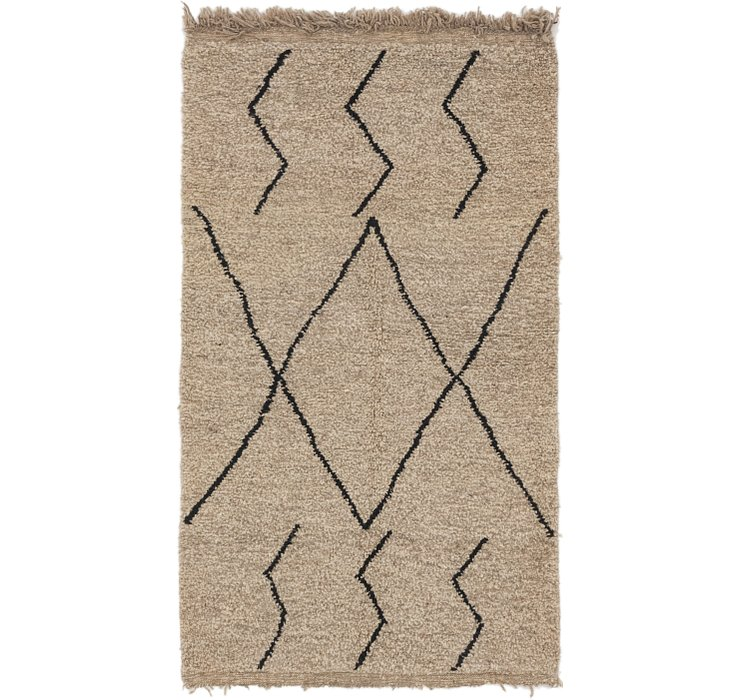 HandKnotted 3' 8 x 6' 7 Moroccan Rug