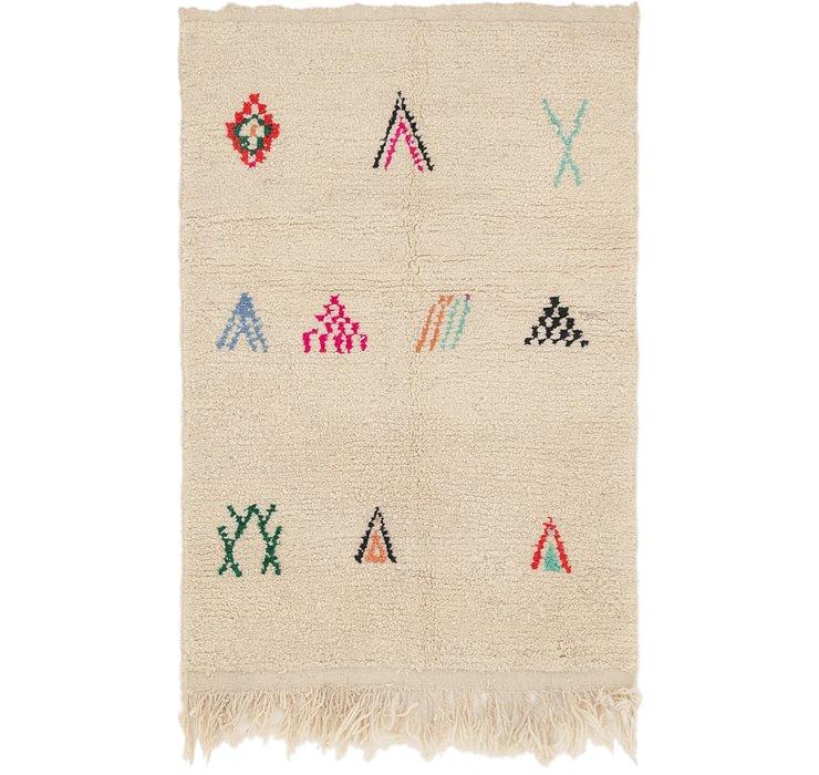 3' 4 x 4' 10 Moroccan Rug