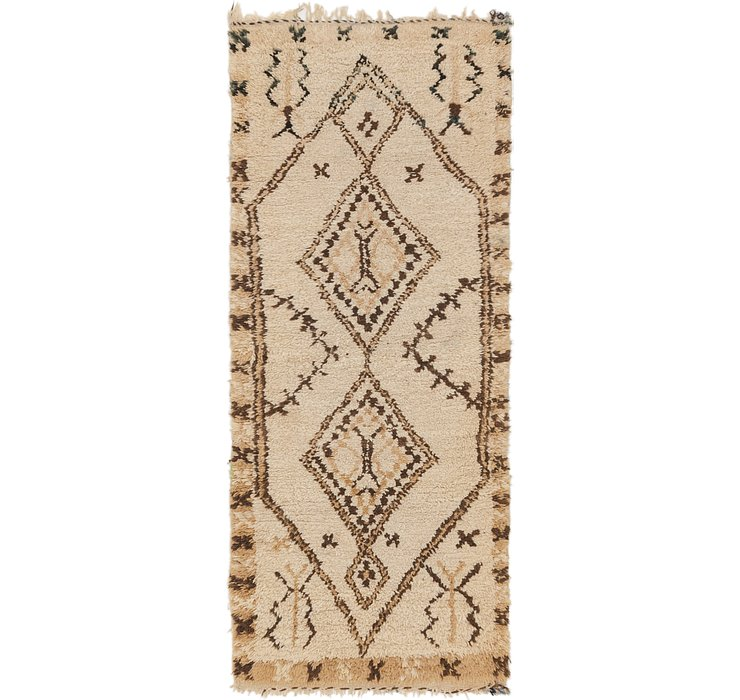 HandKnotted 2' 9 x 6' 5 Moroccan Runner Rug