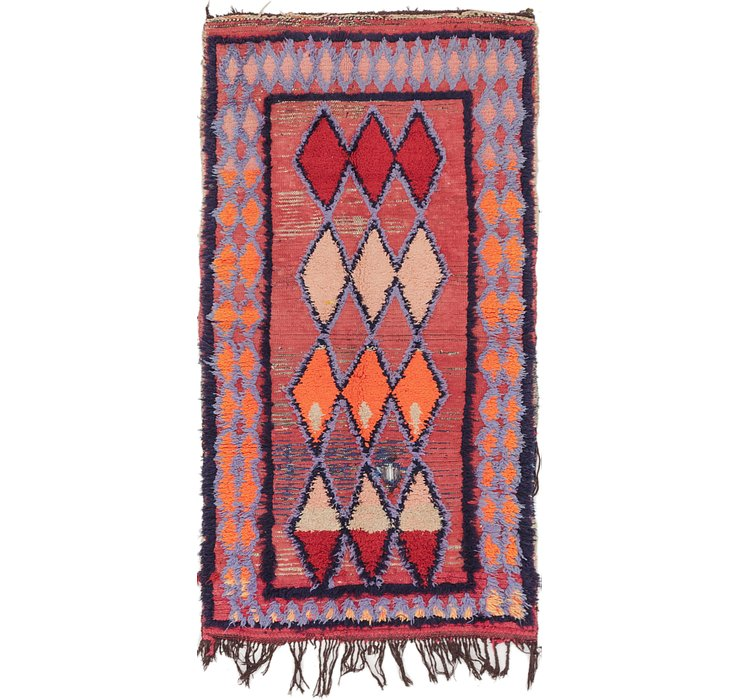 HandKnotted 2' 10 x 5' 8 Moroccan Rug