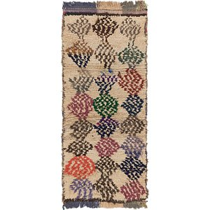 HandKnotted 3' x 6' 9 Moroccan Runner Rug