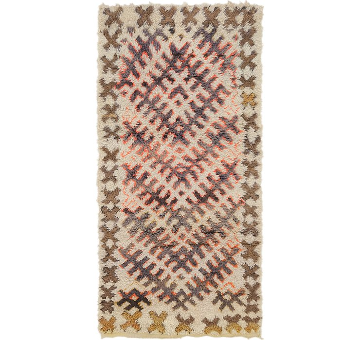 HandKnotted 3' x 6' 3 Moroccan Runner Rug