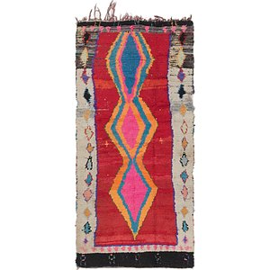 HandKnotted 3' 6 x 7' Moroccan Runner Rug