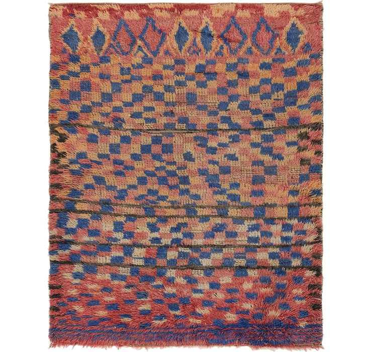 5' 3 x 6' 7 Moroccan Square Rug