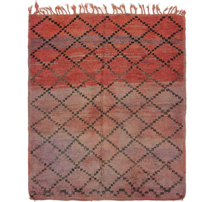 HandKnotted 5' 10 x 6' 10 Moroccan Square Rug