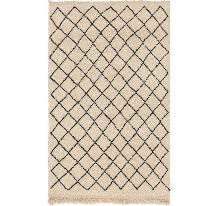 HandKnotted 5' x 8' 4 Moroccan Rug