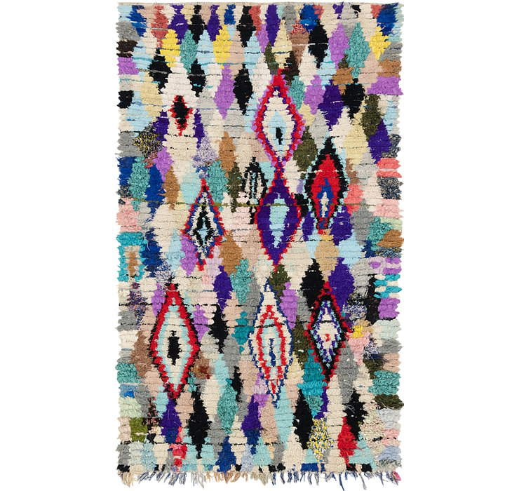 HandKnotted 5' 3 x 9' 3 Moroccan Rug