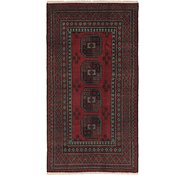 Link to 3' 5 x 6' 5 Afghan Akhche Runner Rug