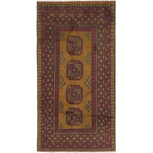 Link to 3' 4 x 6' 3 Afghan Akhche Runner Rug item page