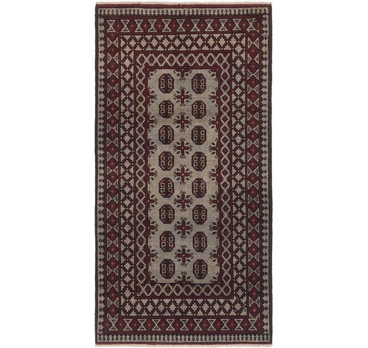 3' 4 x 6' 4 Afghan Akhche Runner Rug