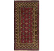 Link to Unique Loom 3' 3 x 6' 6 Afghan Akhche Runner Rug