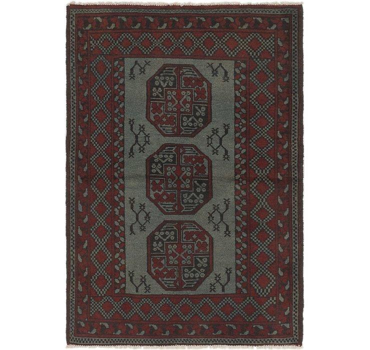 105cm x 152cm Afghan Akhche Rug