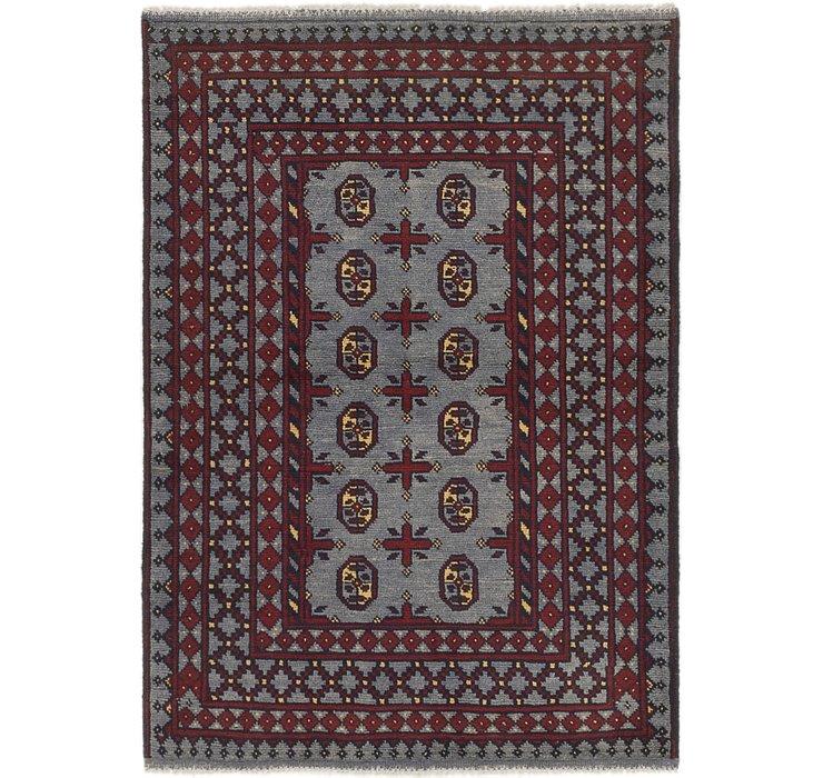3' 6 x 5' Afghan Akhche Rug