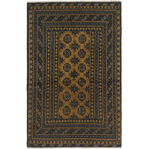 Link to 3' 3 x 5' Afghan Akhche Rug item page