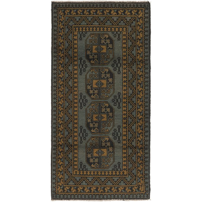 3' 2 x 6' 5 Afghan Akhche Runner Rug