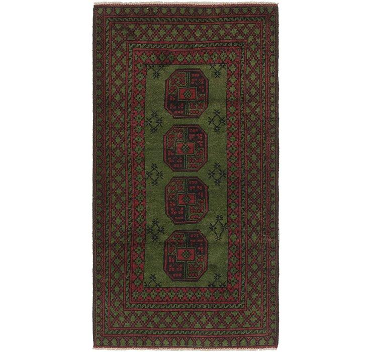 3' 3 x 6' 6 Afghan Akhche Runner Rug