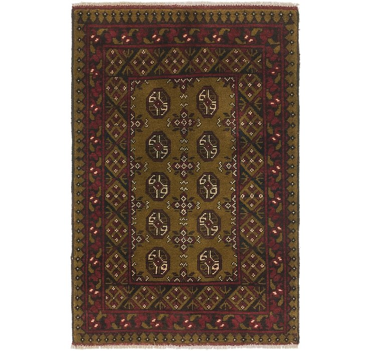2' 7 x 4' Afghan Akhche Rug