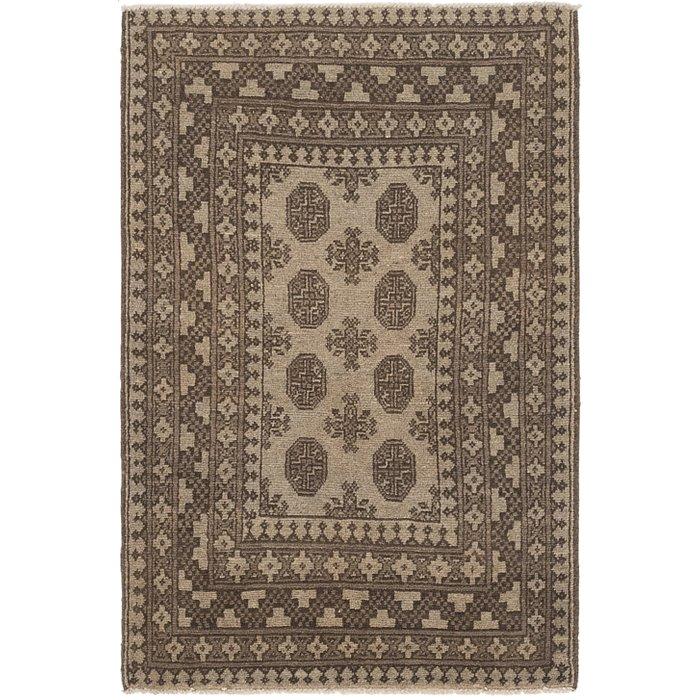 2' 9 x 4' 2 Afghan Akhche Rug