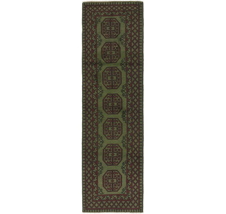 2' 7 x 9' 6 Afghan Akhche Runner Rug