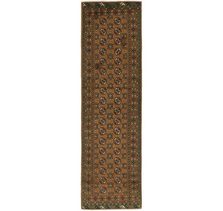 2' 9 x 9' 10 Afghan Akhche Runner Rug