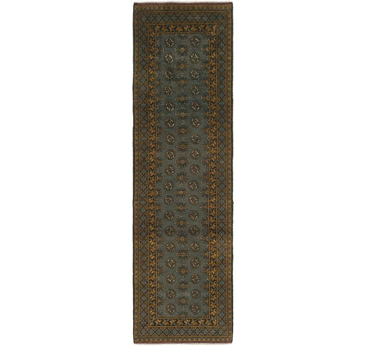2' 8 x 9' 10 Afghan Akhche Runner Rug