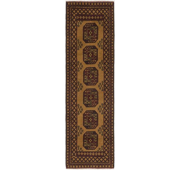 80cm x 295cm Afghan Akhche Runner Rug
