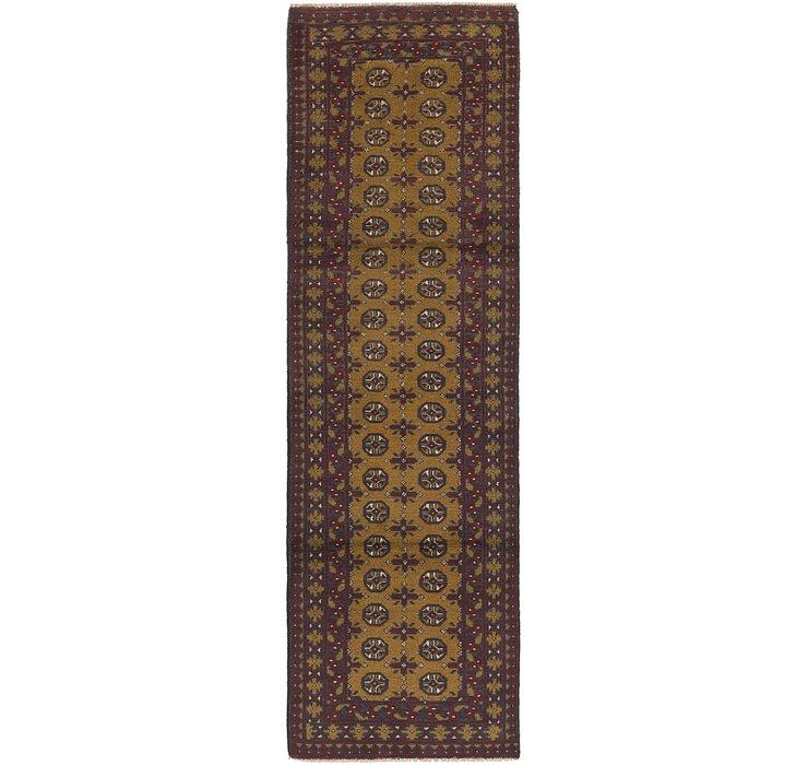 2' 8 x 9' 6 Afghan Akhche Runner Rug