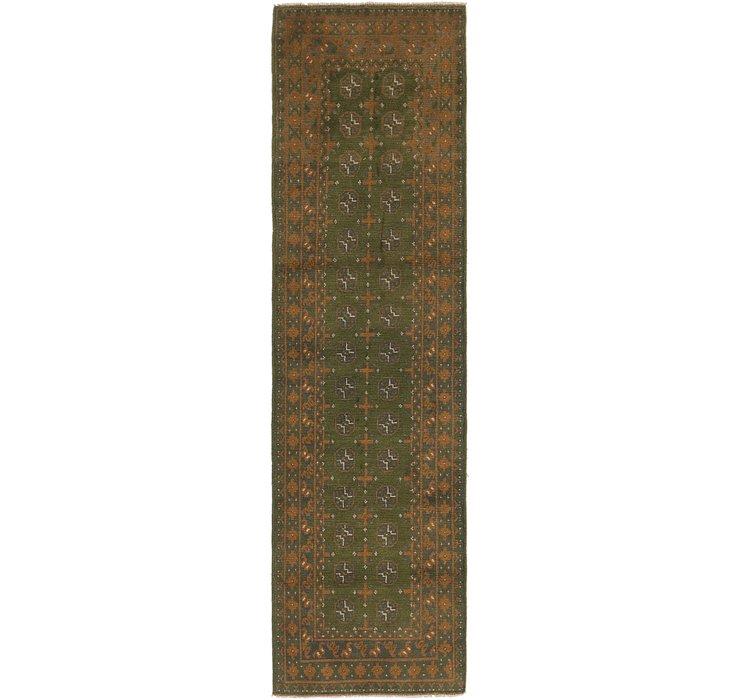 2' 7 x 9' 9 Afghan Akhche Runner Rug