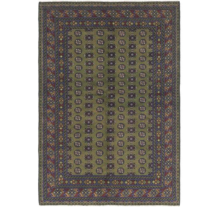 5' 2 x 7' 9 Afghan Akhche Rug