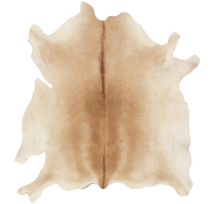 5' x 5' 3 Cowhide Square Rug
