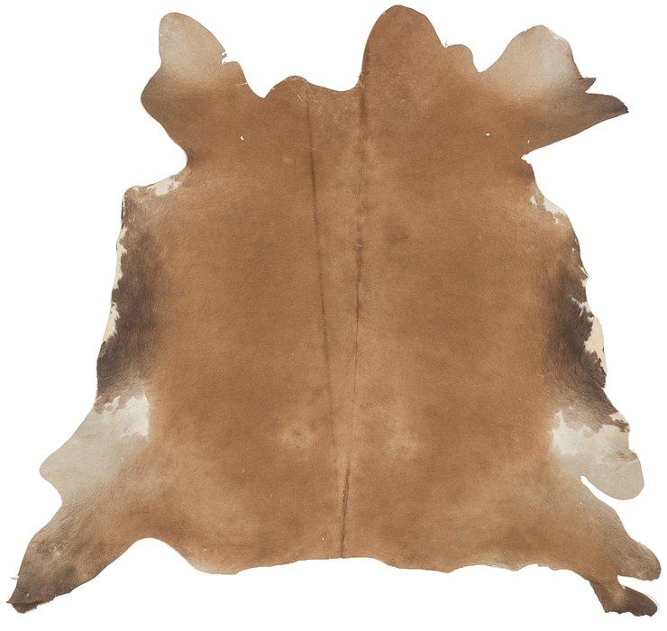 5' 2 x 6' 2 Cowhide Square Rug