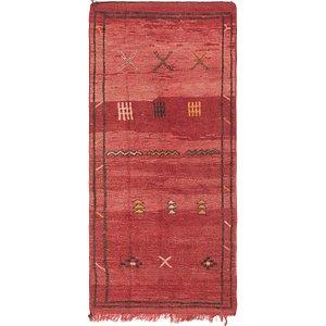 3' 3 x 7' 3 Moroccan Runner Rug