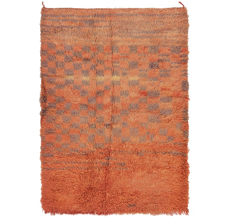 HandKnotted 4' x 6' 3 Moroccan Rug
