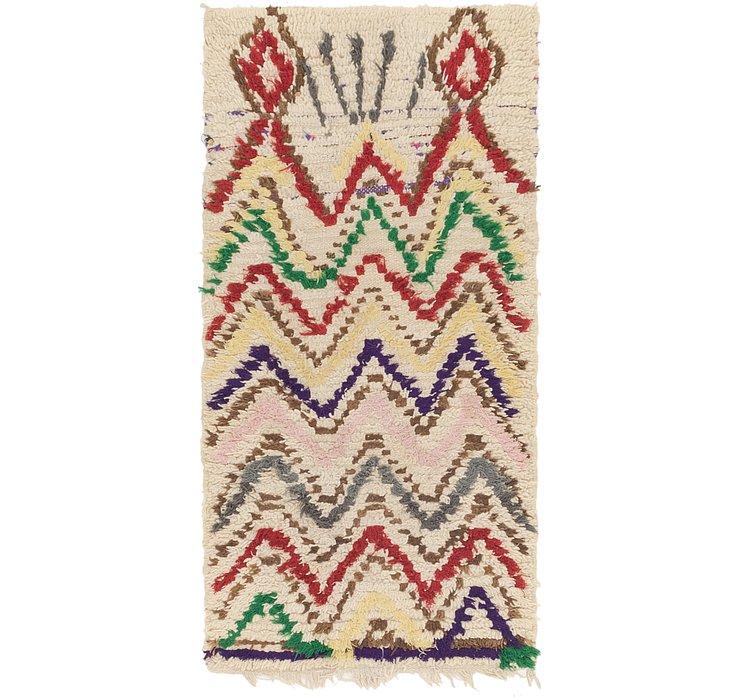 2' 7 x 5' 5 Moroccan Rug
