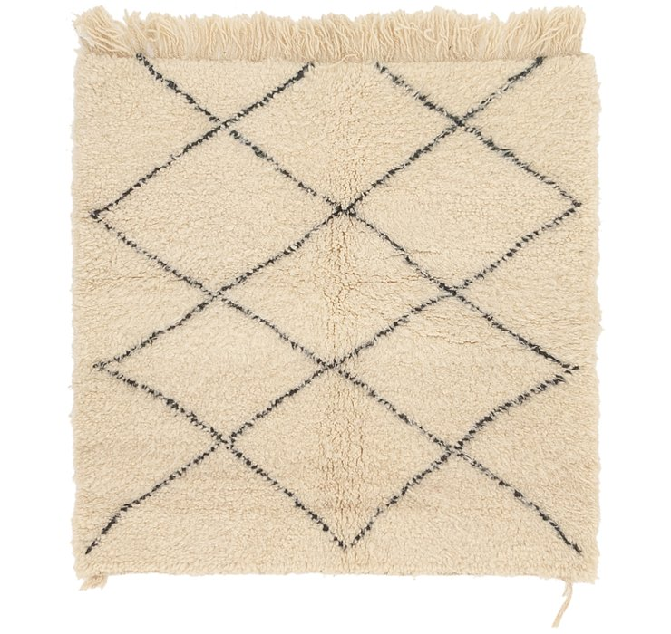 HandKnotted 3' 7 x 3' 8 Moroccan Square Rug