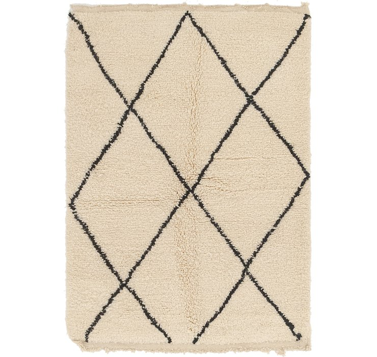 HandKnotted 3' 6 x 5' Moroccan Rug
